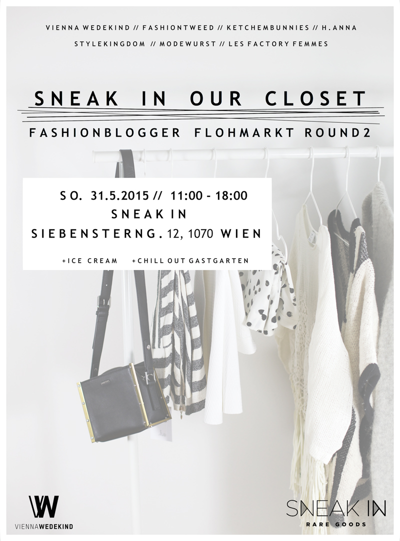 sneak in our closet: fashionblogger flohmarkt