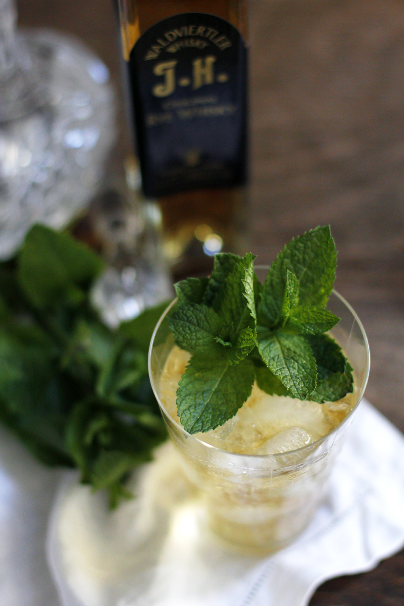 rezept: rye whisky julep cocktail