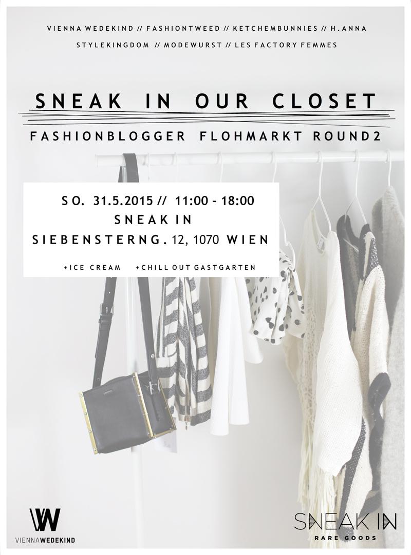 sneak in our closet: fashionblogger flohmarkt
