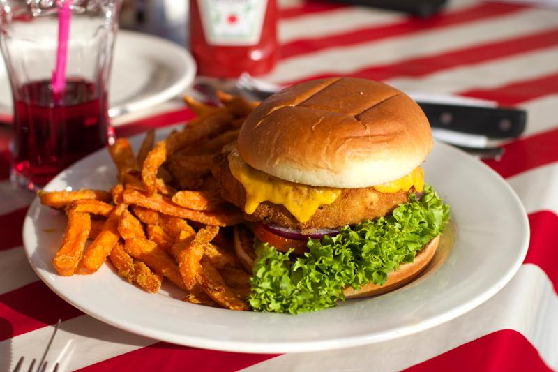 TGI Fridays Garden Burger | h.anna